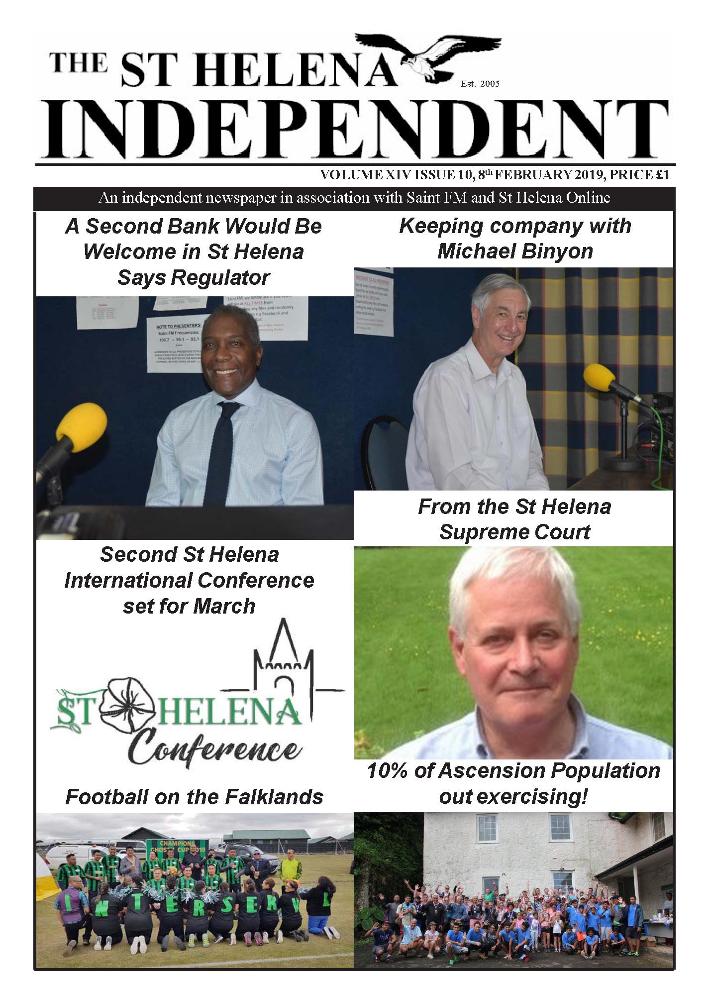 St Helena Independent 20190208