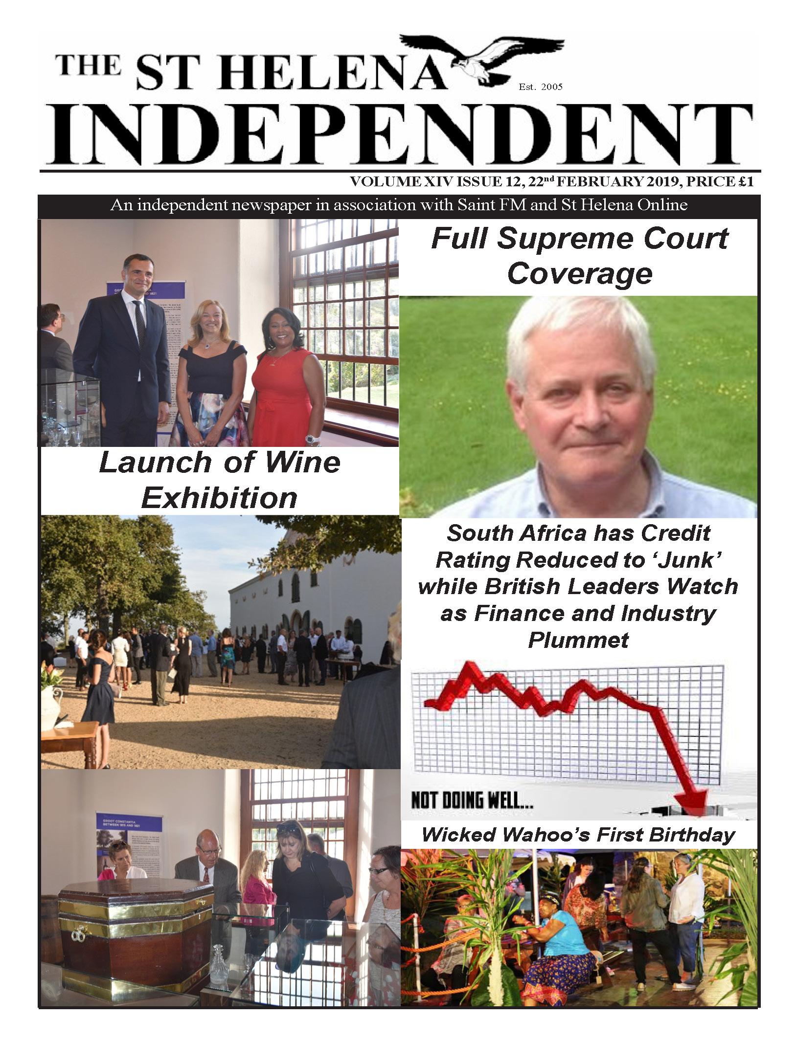 St Helena Independent 20190222