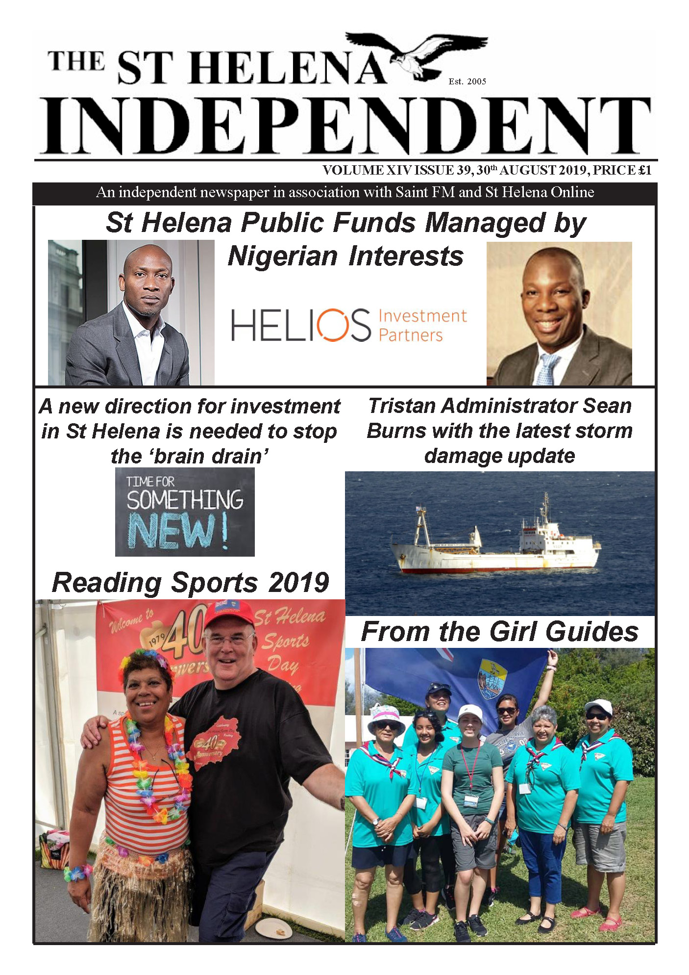 St Helena Independent 20190830 p1