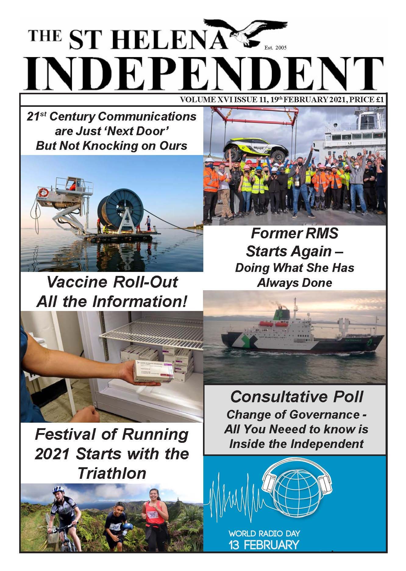 St Helena Independent 20210219 front page