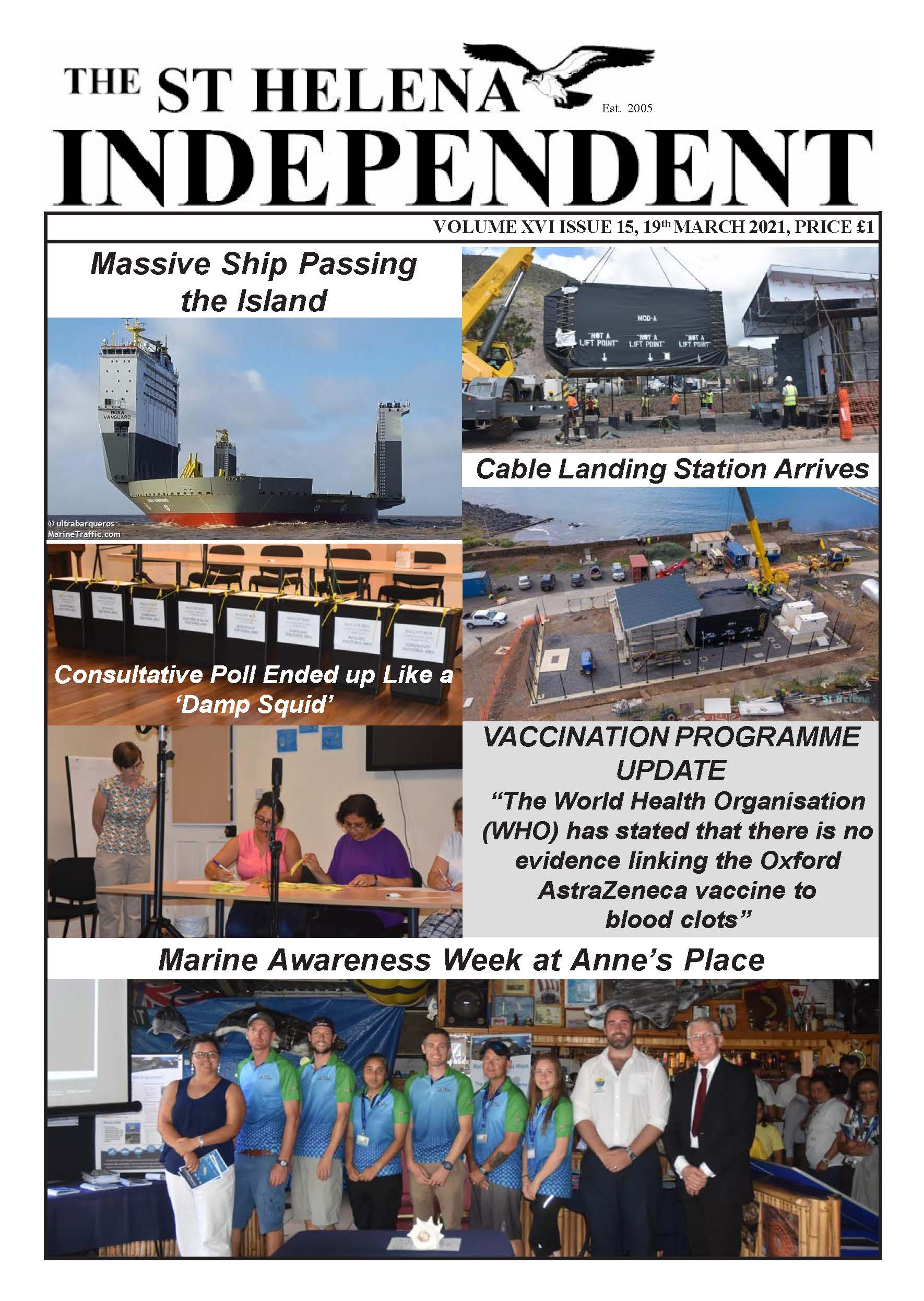 St Helena Independent 20210319 page 1