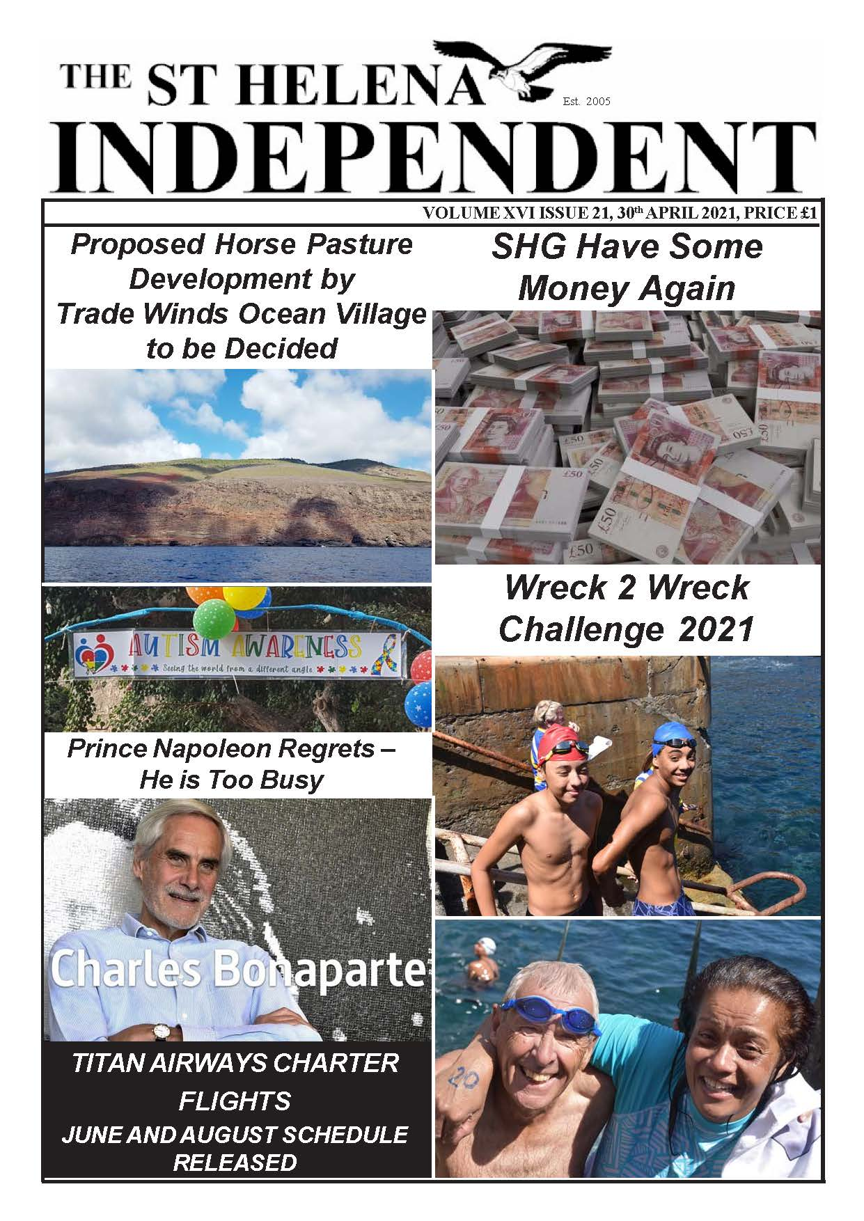 St Helena Independent 20210430 page 1