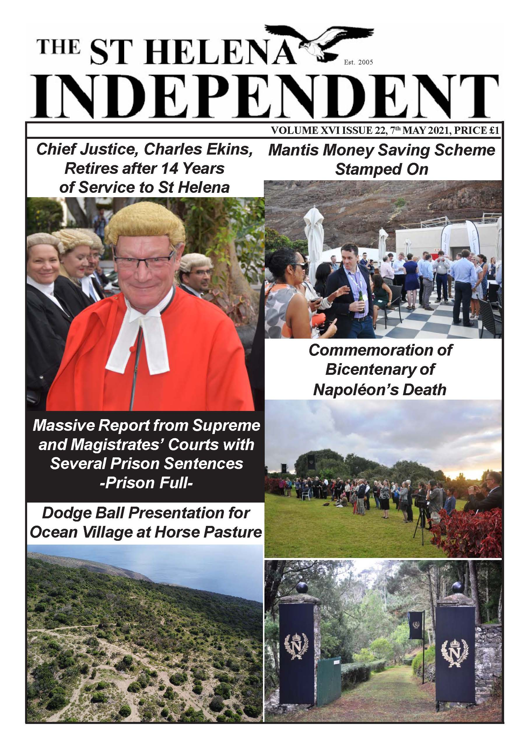 St Helena Independent 20210507 p1