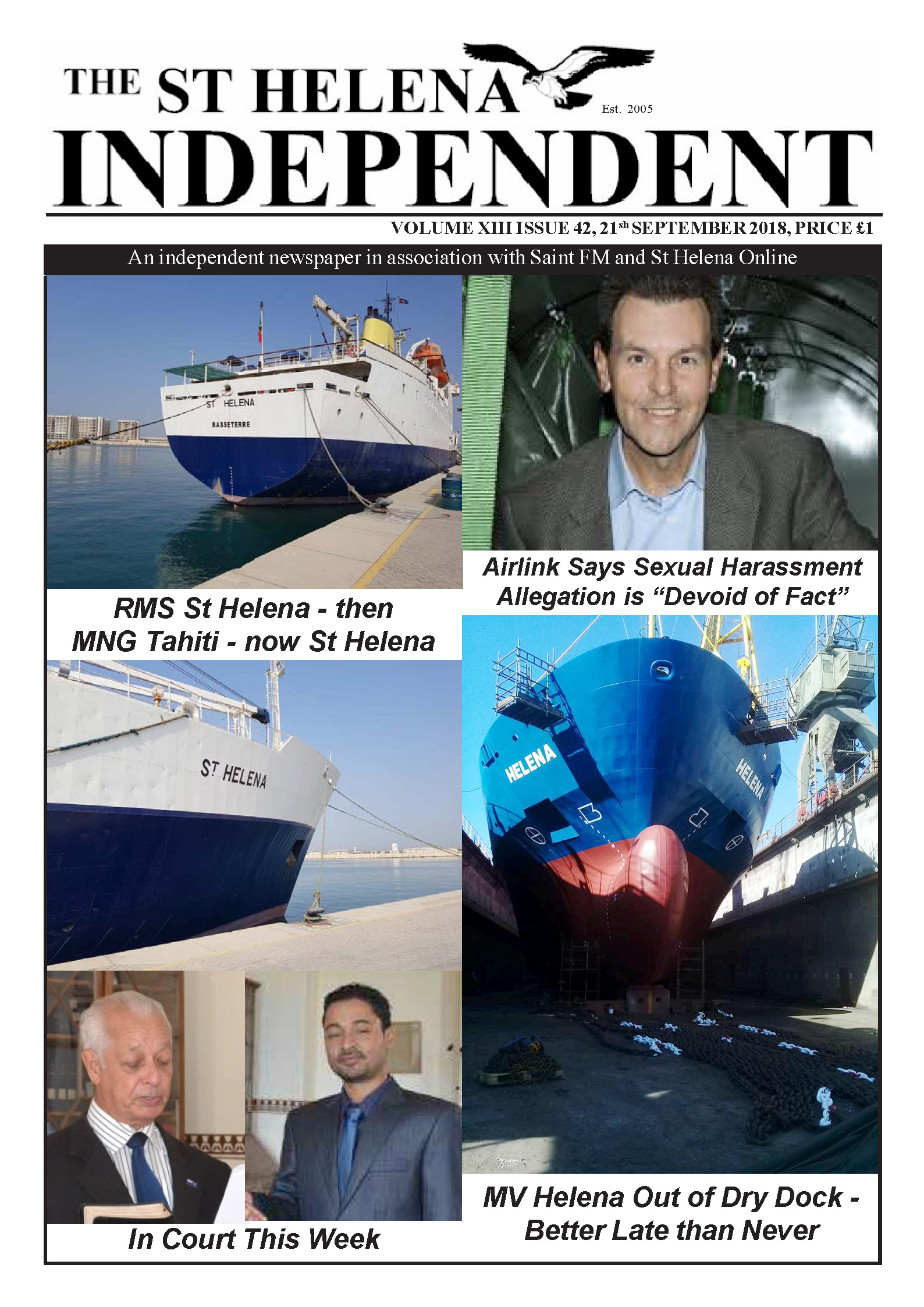St Helena Independent 20180921 p1