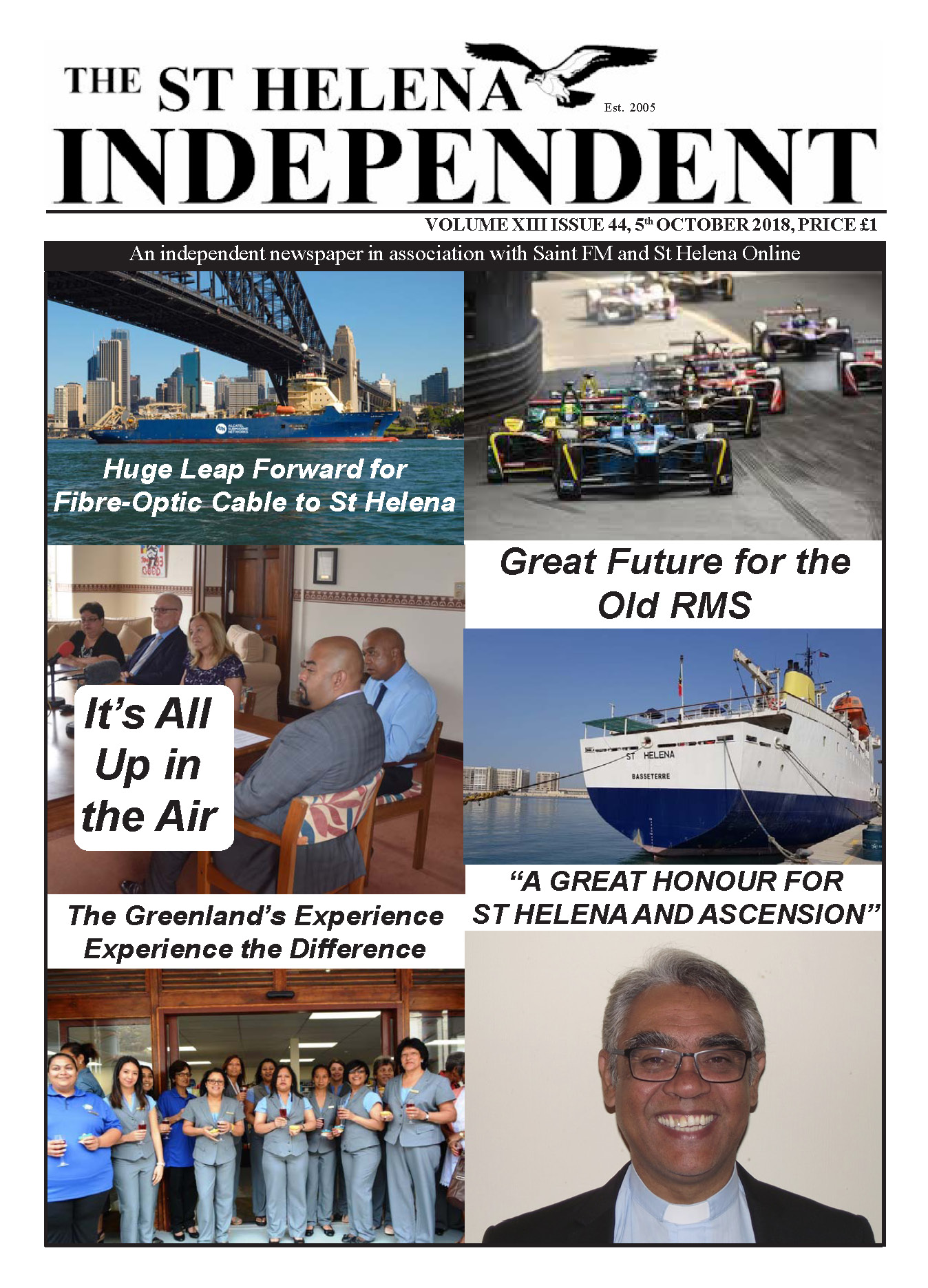St Helena Independent 20181005 page 1