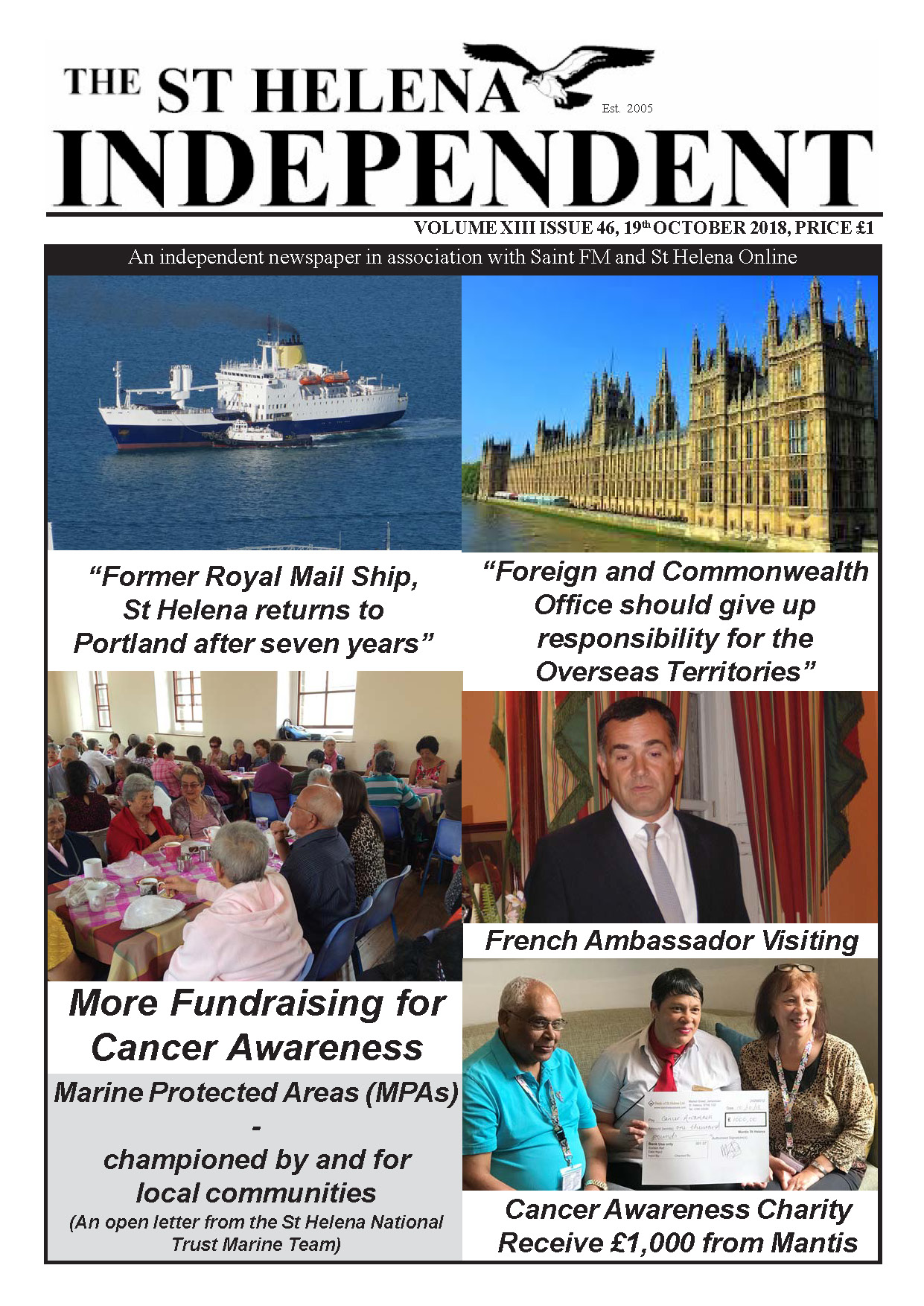 St Helena Independent 20181019 p1