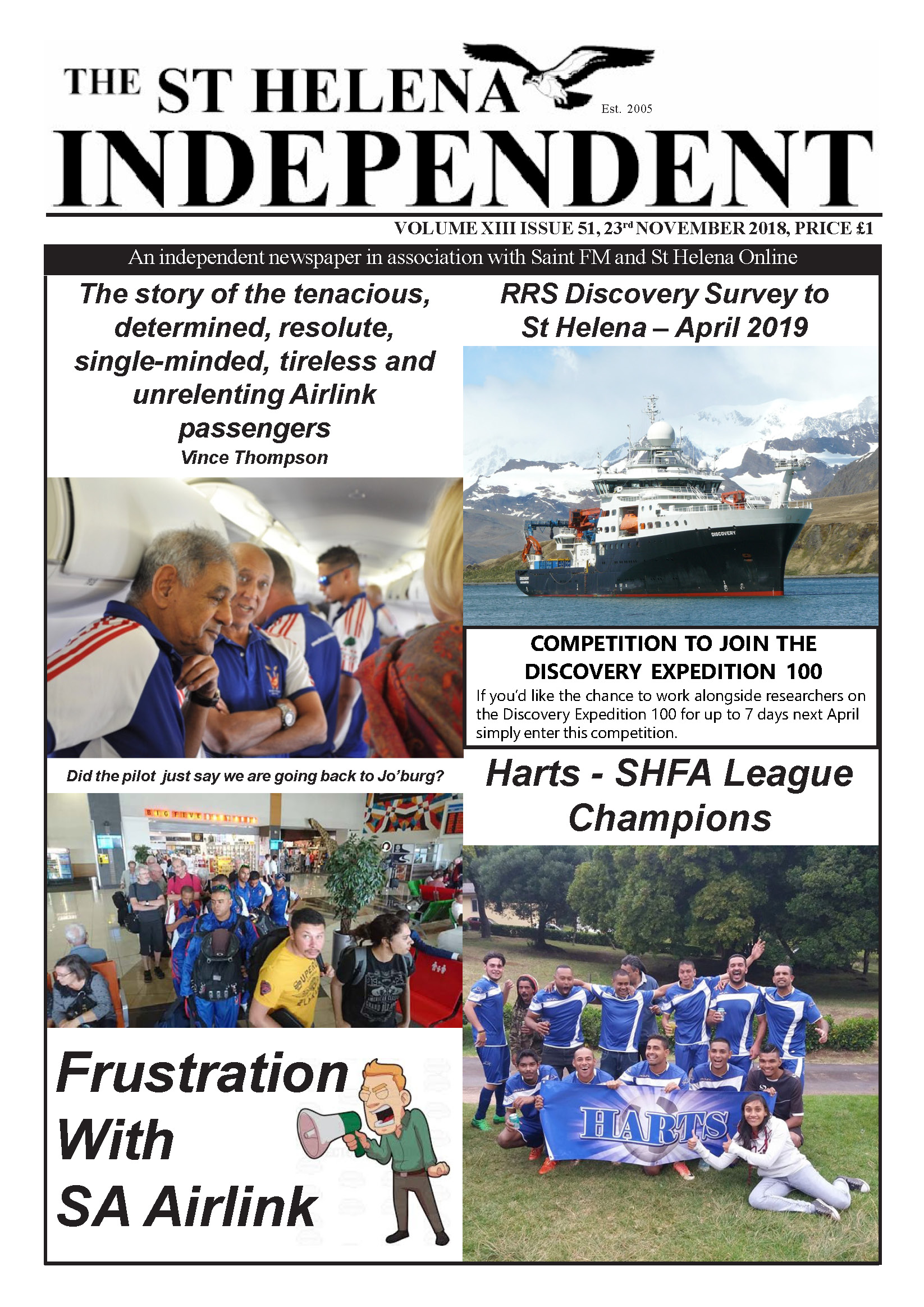 St Helena Independent 20181123 p1