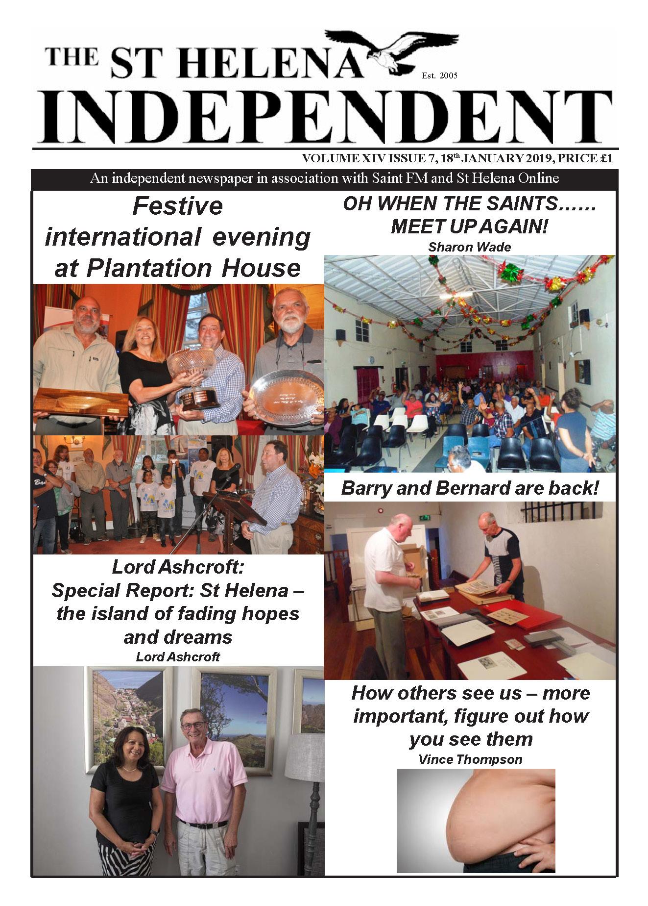 St Helena Independent 20190118