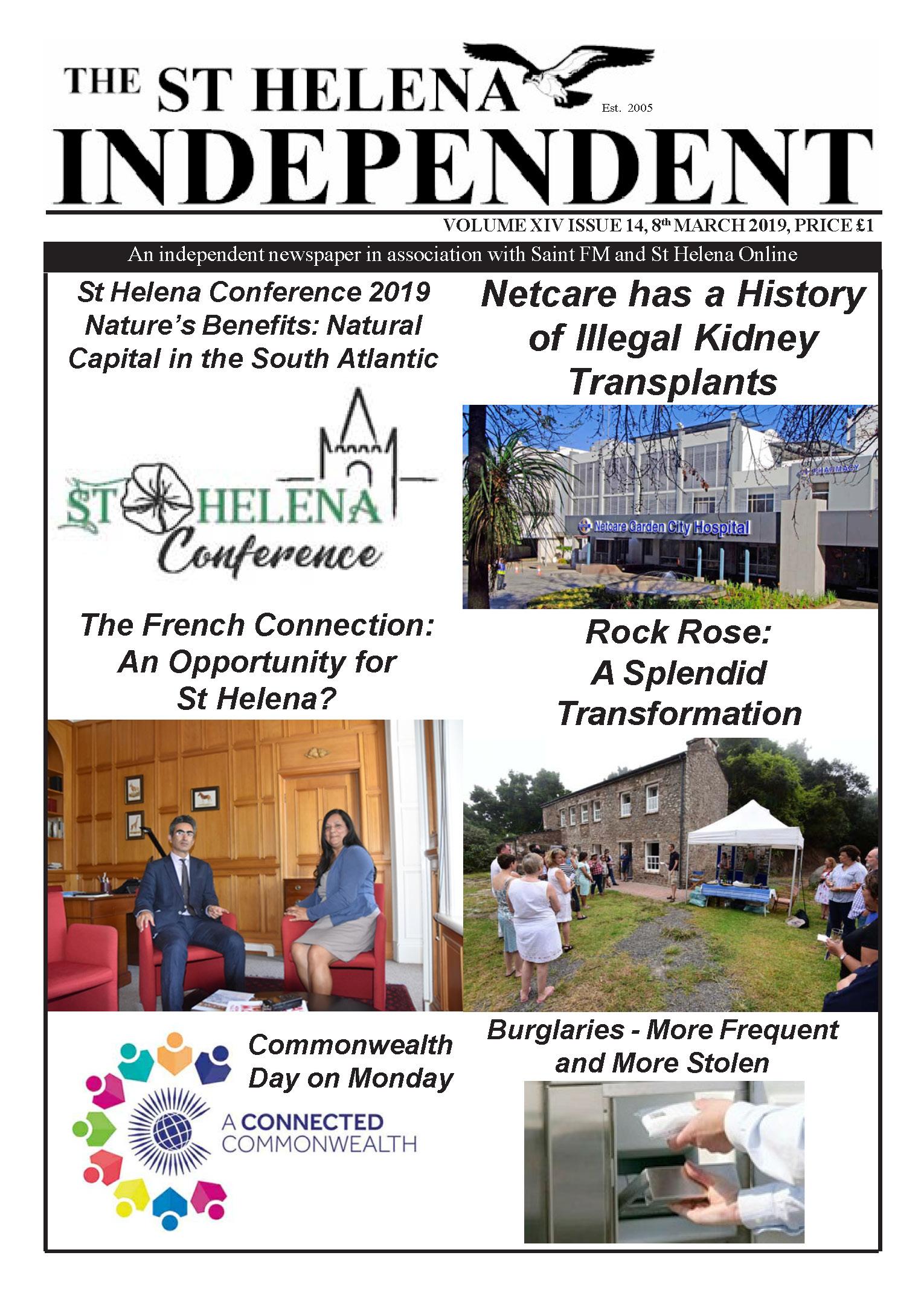 St Helena Independent 20190308