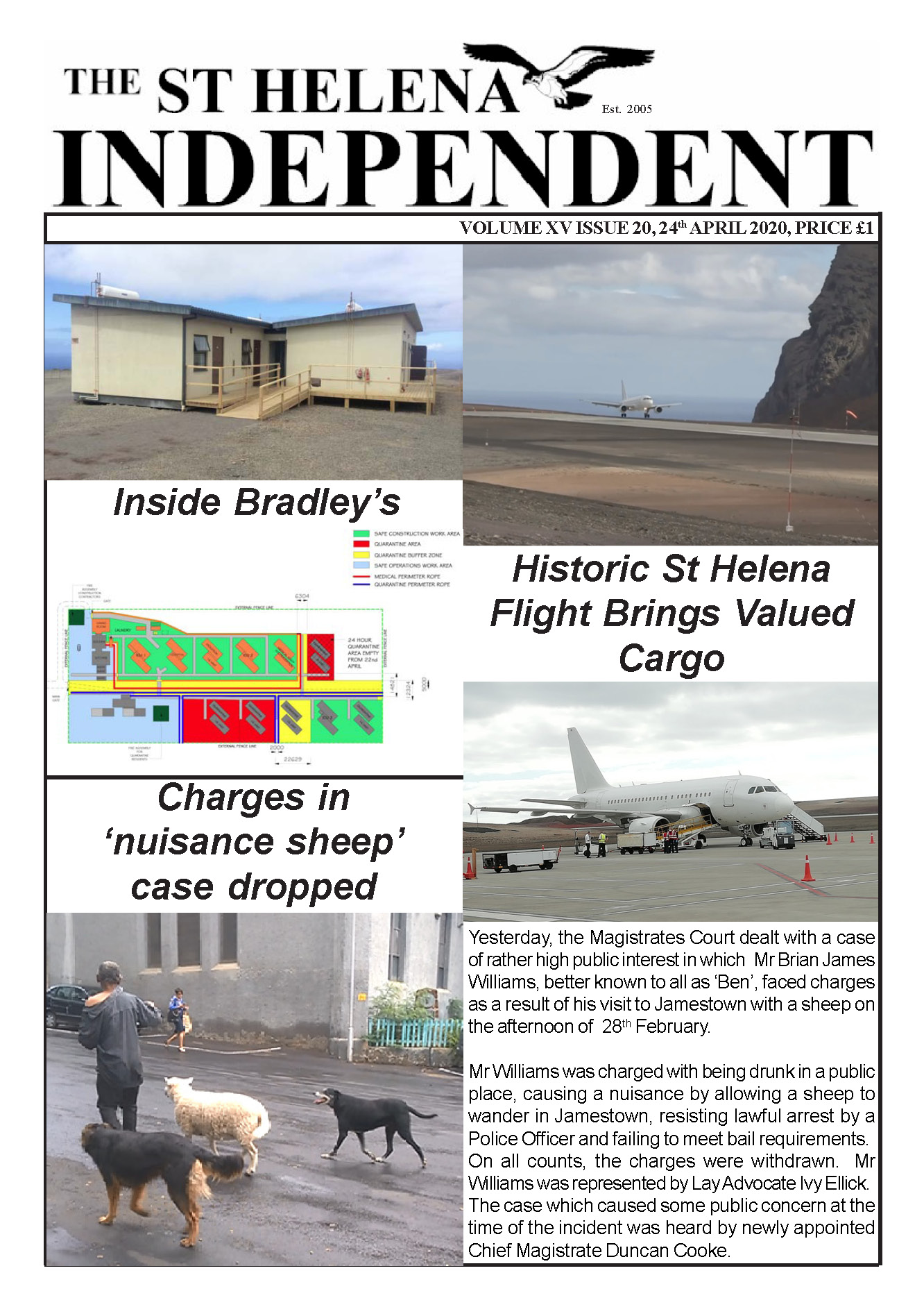 St Helena Independent 20200424 p1