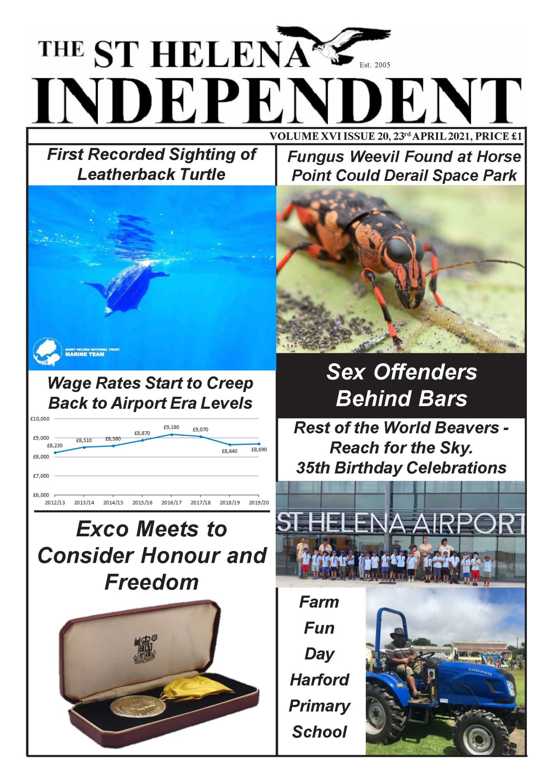 St Helena Independent 20210423 p1