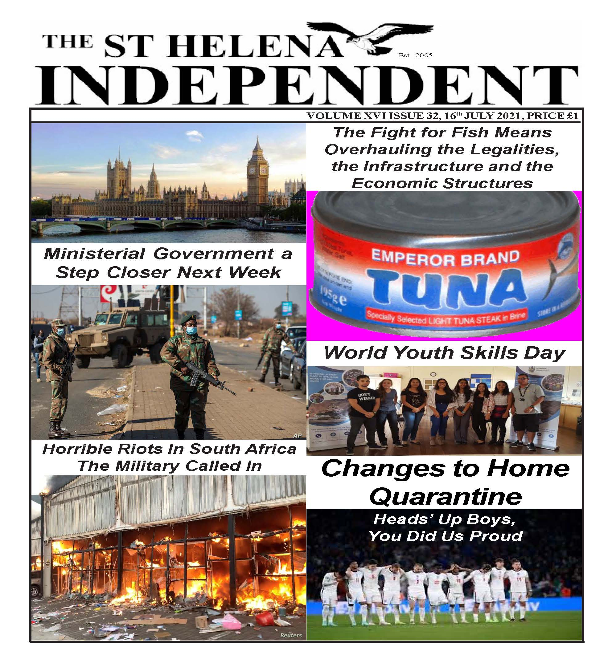St Helena Independent 20210716 p1