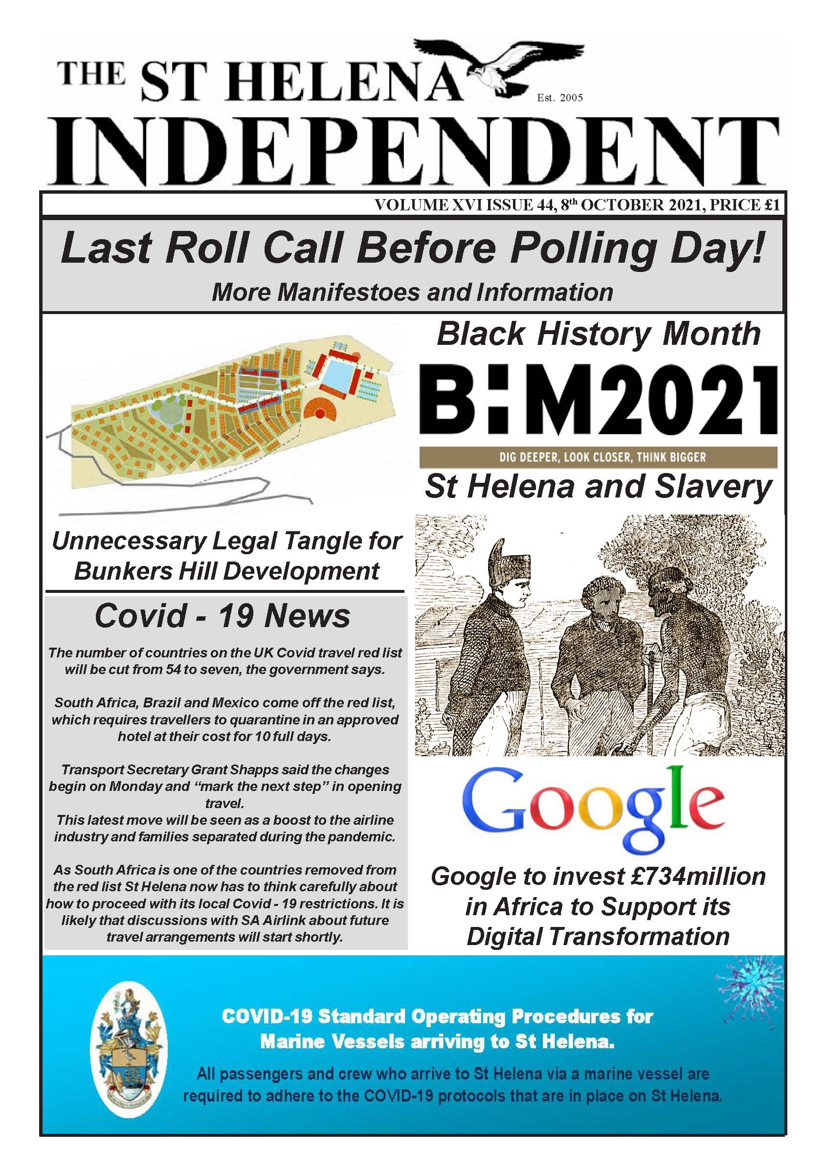 St Helena Independent 20211008 p1